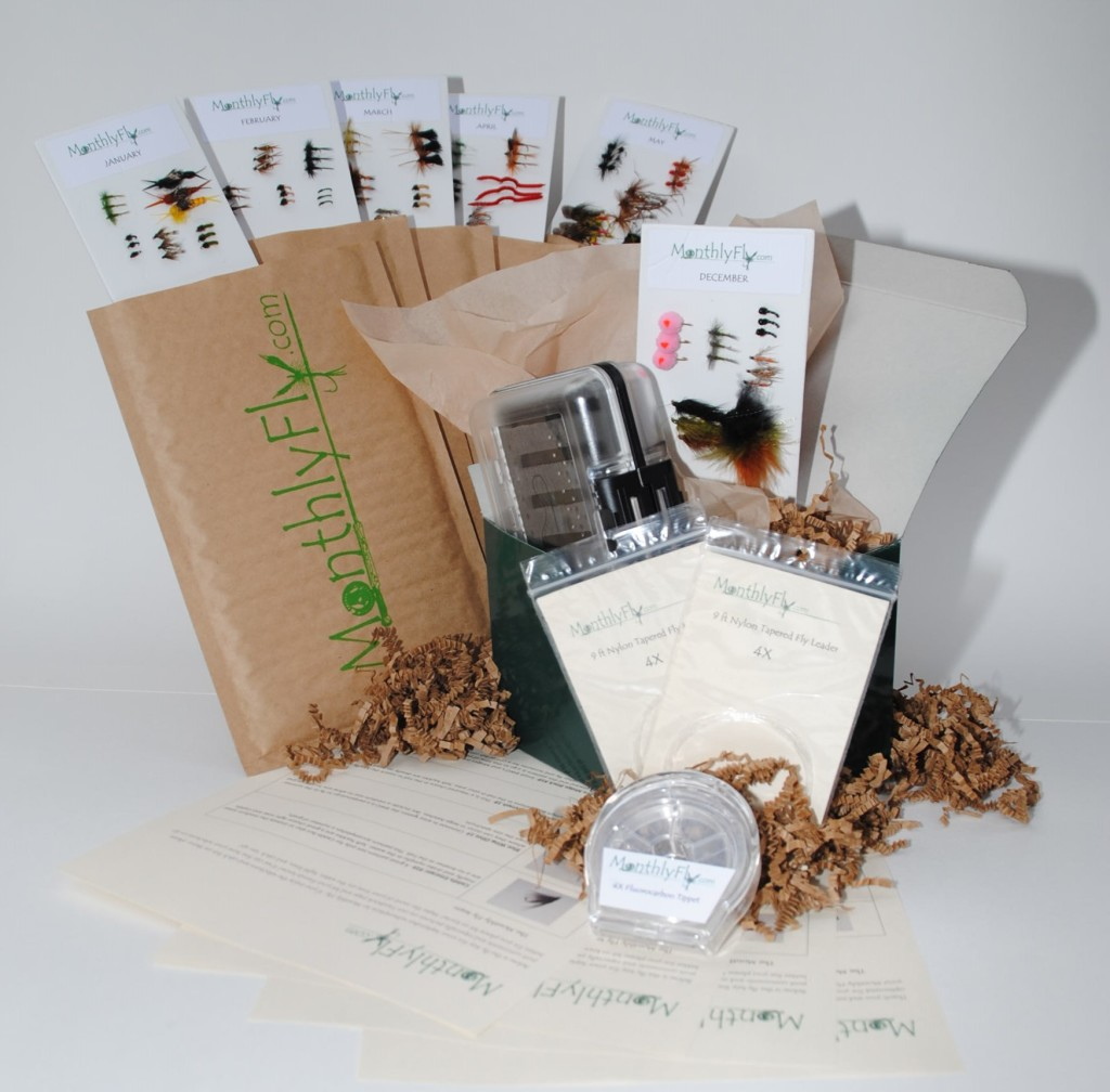 Give the gift of trout flies all year 60 off retail for Monthly fishing subscription boxes
